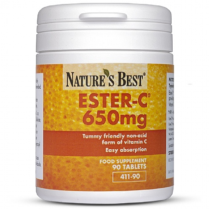 Ester-C<sup>®</sup> 650mg, Unique Non-Acidic Form Of Vitamin C