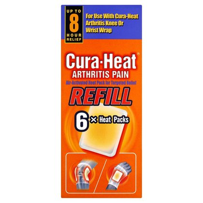 Cura-Heat Arthritis Pain Refill Heat Packs - 6