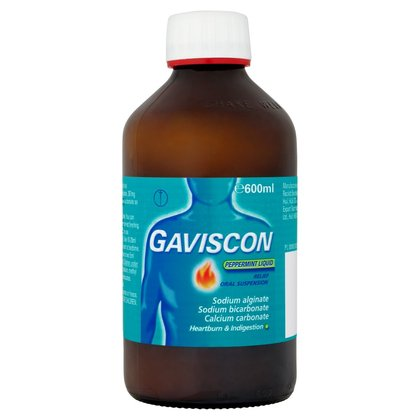 Gaviscon Peppermint Liquid Relief - 600ml