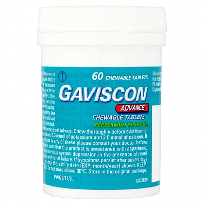 Gaviscon Advance Peppermint Tablets - 60