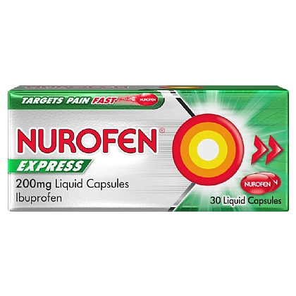 Nurofen Express 200mg Liquid Capsules - 30