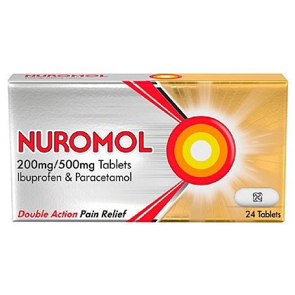 Nuromol 200mg/500mg Tablets 24 Tablets