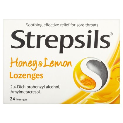 Strepsils Honey & Lemon Lozenges - 24