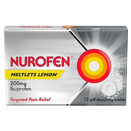 Nurofen Meltlets Lemon Tablets - 12