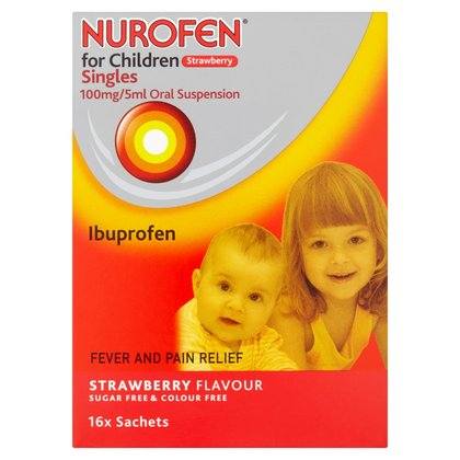 Nurofen for Children Singles Strawberry - 16