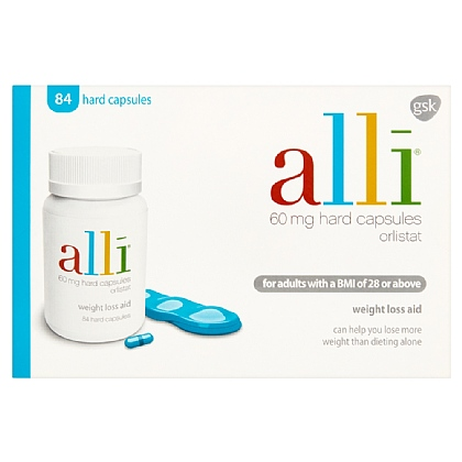 Alli 60mg Weight Loss Aid Capsules - 84