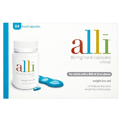 Alli 60mg Weight Loss Aid Capsules - 168
