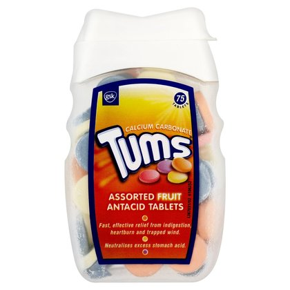 Tums Assorted Fruit Antacid Tablets - 75