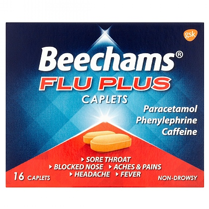 Beechams Flu Plus Caplets - 16