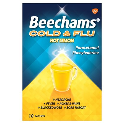 Beechams Cold & Flu Lemon Sachets - 10