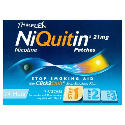 NiQuitin 21mg Patches 24 Hour Step 1 7 Patches