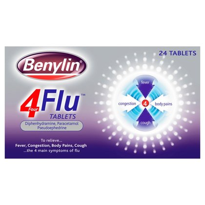 Benylin 4 Flu Tablets - 24