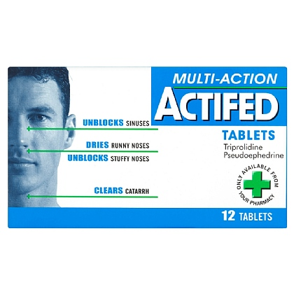Actifed Multi-Action Tablets - 12