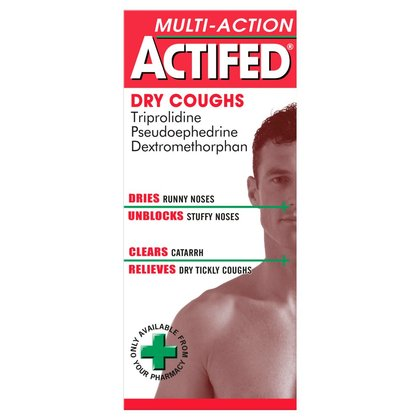 Actifed Multi-Action Dry Coughs Liquid - 100ml