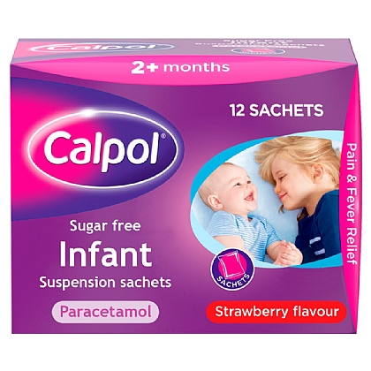 Calpol Infant Suspension Sugar Free Sachets - 12