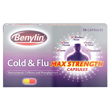 Benylin Cold & Flu Max Strength Capsules - 16