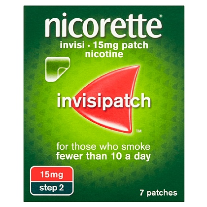 Nicorette Invisi-Patch 15mg Nicotine Patches - 7