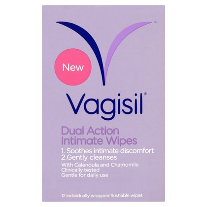 Vagisil Dual Action Intimate Wipes - 12 Sachets