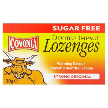 Covonia Double Action Cough Sugar Free Lozenges Strong Original - 30g