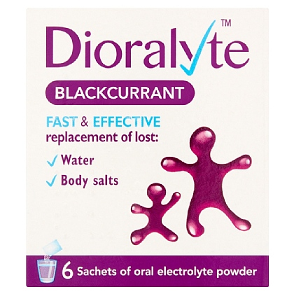 Dioralyte Blackcurrant Powder 4g Sachets  - 6
