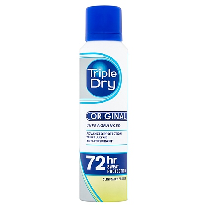 Triple Dry Unfragranced 72hrs Advanced Protection Anti-Perspirant