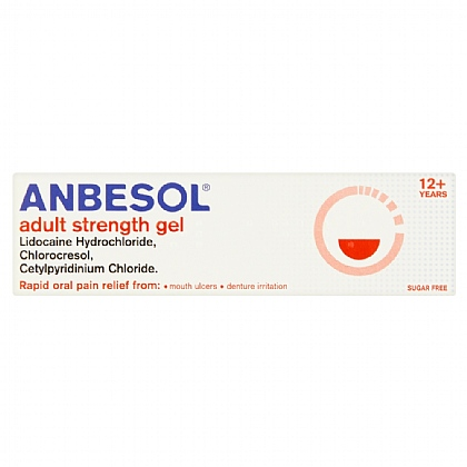Anbesol Adult Strength Gel - 10g