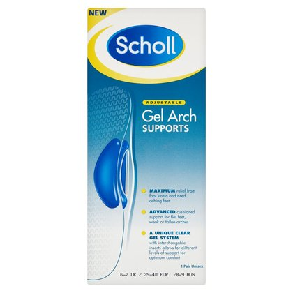Scholl Gel Arch Supports - Size 6 - 7