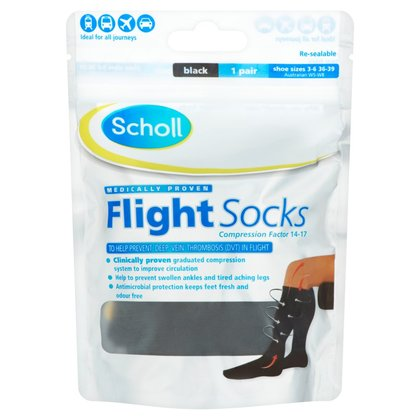 Scholl Cotton Feel Flight Socks - Size 3 - 6