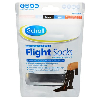 Scholl Cotton Feel Flight Socks - Size 6.5 - 9