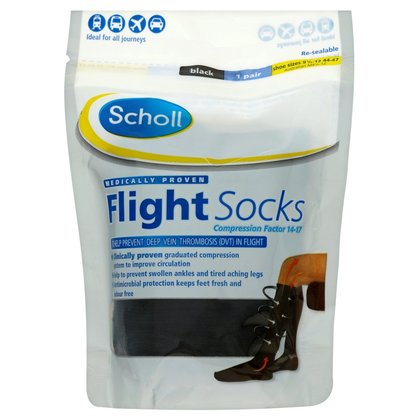 Scholl Cotton Feel Flight Socks - Size 9.5 - 12