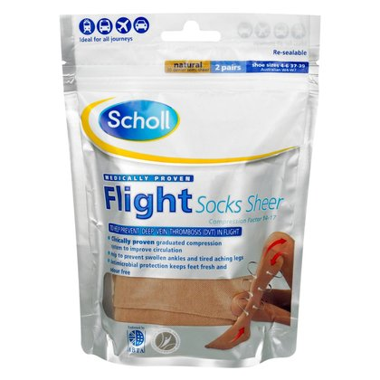Scholl Sheer Flight Socks - Size 4 - 6