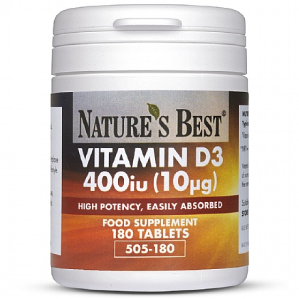 Vitamin D3 400iu, Highly Absorbable Pure Grade Formula