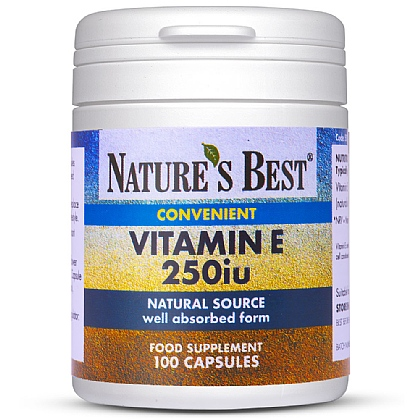 Vitamin E 250iu, Powerful Antioxidant From A Natural Source
