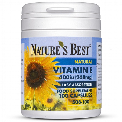Vitamin E 400iu (268mg), Naturally Sourced