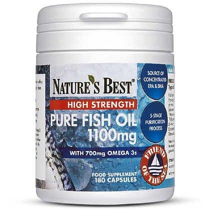 Fish Oil 1100mg, Pure Omega 3s With DHA/EPA