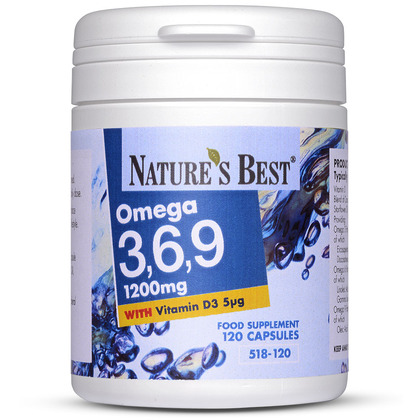 Omega 3, 6, 9 1200mg, A Unique Formula
