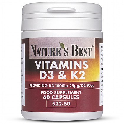 Vitamins D3 & K2, High Strength Formula