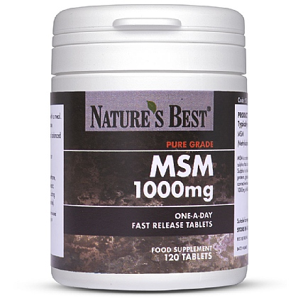 MSM 1000mg, Fast Release Tablets