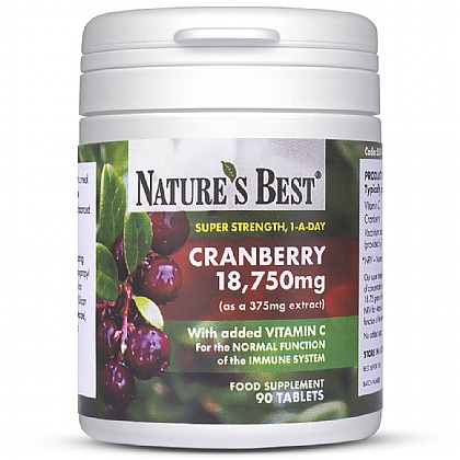 Cranberry Tablets 18,750mg, High Strength Extract