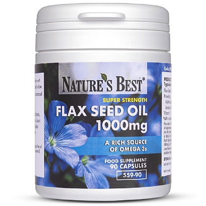 Flax Seed Oil 1000mg, Vegan Omega 3s