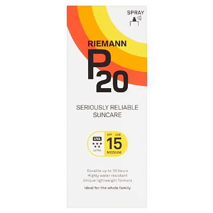Riemann P20 Once a Day Sun Protection Spray SPF 15 Medium