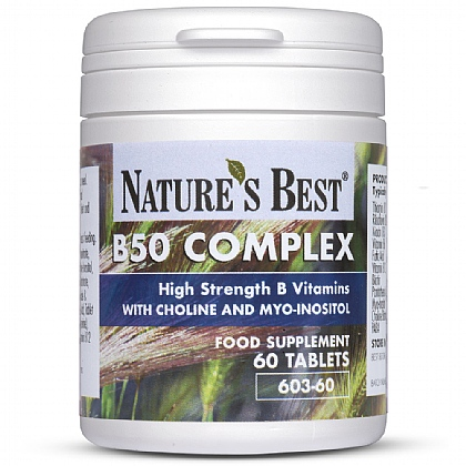 Vitamin B50 Complex, With B6, B12 & Folic Acid