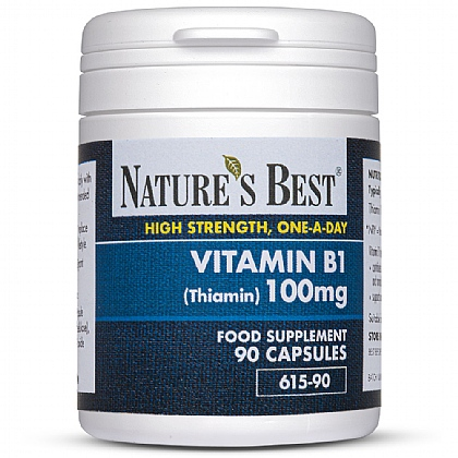 Vitamin B1 100mg (Thiamin), Contributes To Energy Release From Food