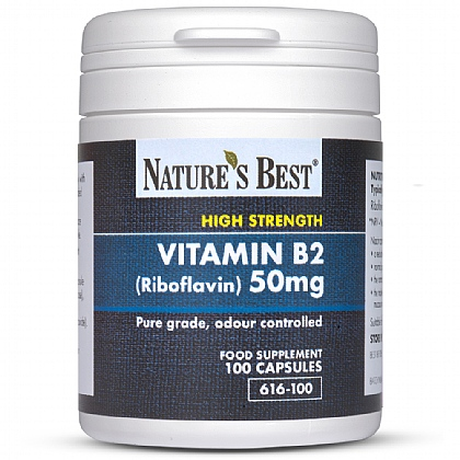 Vitamin B2 50mg (Riboflavin), Contributes To The Reduction Of Tiredness & Fatigue
