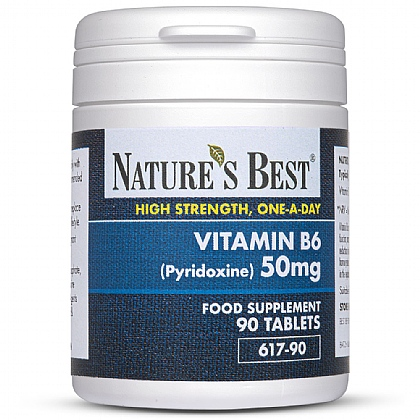Vitamin B6 (Pyridoxine) 50mg