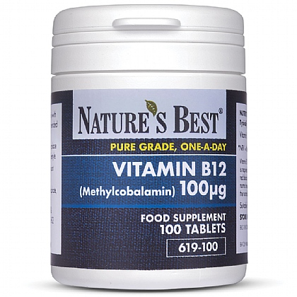 Vitamin B12 100µg (Methylcobalamin), For The Reduction Of Tiredness And Fatigue