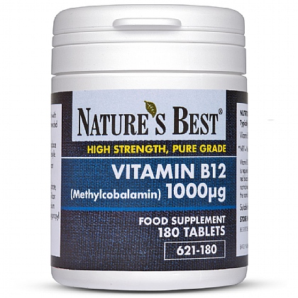 Vitamin B12 Tablets 1000µg, For the Reduction of Tiredness & Fatigue