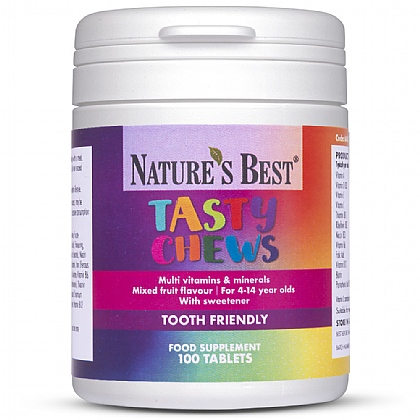 Tasty Chews, A Chewable Multivitamin and Mineral For Children 4-14 years