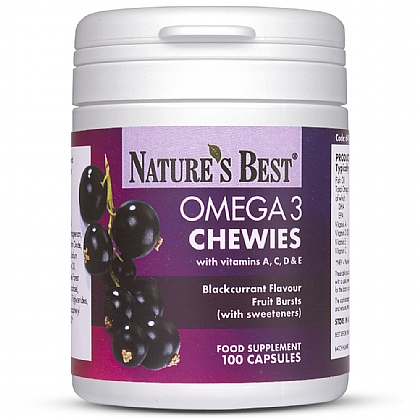 Omega 3 Chewy Fruit Bursts with Vitamin A,C, D, and E