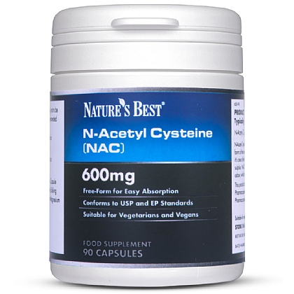 N-Acetyl Cysteine 600mg (NAC), Stable Form Of The Amino Acid Cysteine